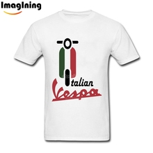 Summer Streetwear Italian Vespa T Shirts 100% Cotton Homme Tees Man Camisetas New Stylish 2XL T-shirt