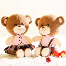 Kawaii 7 inch soft teddy bear plush toys DIY stuffed wedding Dolls children birthday Christmas gifts