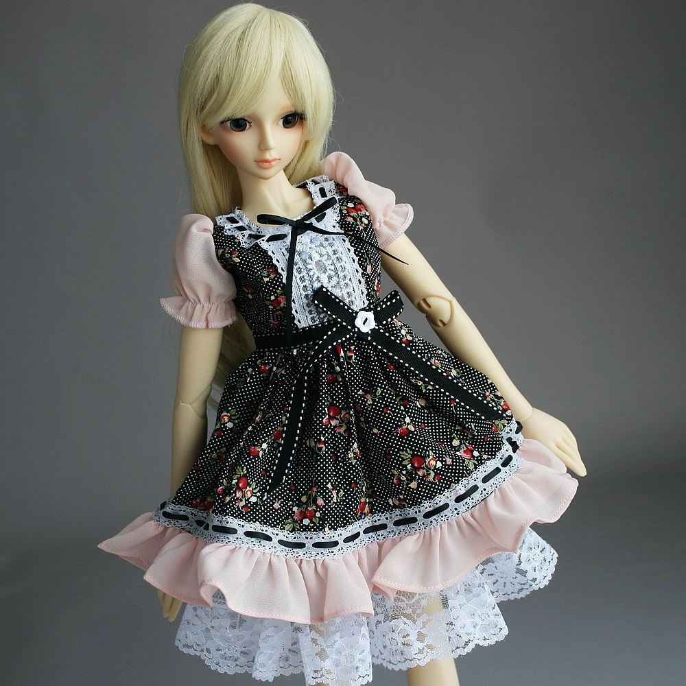 [wamami] 148# Pink Flower Floral Print Dress/Suit 1/4 MSD AOD DOD BJD Dollfie<br>