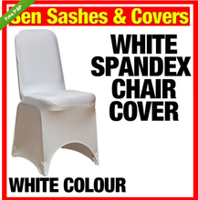 free shipping 100 pcs per lot SPANDEX CHAIR COVER LYRCA WHITE / BLACK CHAIR COVERS BANQUET WEDDING RECEPTION PARTY(China)
