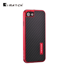 Luxury Real Carbon Fiber Element Back Cover Case + Aluminum Metal Frame Borders For Apple iPhone 7/ Plus Phone Cases Accessories