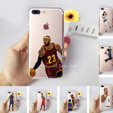 NBA Coque Jordan Curry James Kevin Durant Kobe Basketball Case for iphone 6 7 6s 8 plus X 5s 5 se Transparent Silicon TPU Fundas(China)