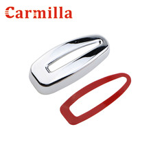 Carmilla ABS Chrome Car Inside Headlight Adjust Button Chrome Modified Sticker for Ford Fiesta Ecosport 2013 2014 2015 2016 +(China)