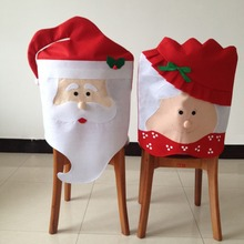 1PCS Lovely Santa Claus Dining Room Chair Cover Seat Back Cover Christmas Home Party Decoration Xmas Table Props Hot Sale