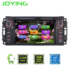 JOYING latest 2GB RAM android 6.0 touch screen radio head unit for Dodge Ram Pickup car GPS stereo for JEEP Commander Wrangler