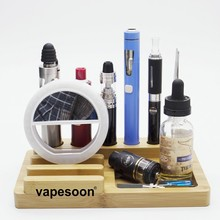 vapesoon Multifunction Bamboo Stand Display Holder for e cigarette accessories DIY Tools VGOD & IJUST S one & eGo AIO D22 kit(China)