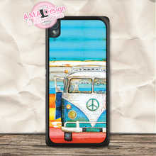 Retro VW Bus Painting Art Case For Xperia Z5 Z4 Z3 compact Z2 Z1 Z E4 T3 T2 SP M4 M2 C3 C(China)