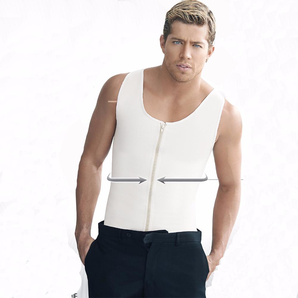 Latex Waist Cincher Men Rubber Bone Hot Fat Burning And Control Slimming Fit Vest Body Shaper Zipper Close Underwear Bustier 6XL (1)
