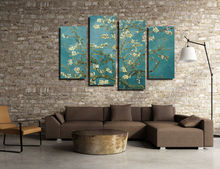 Framed Van Gogh - Almond Blossoms Oil Painting Canvas Art Print Poster Stretched Ready to Hang