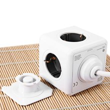 1 Piece All Occasion Fashion Safety Extended Power Cube Socket DE Plug 4 Outlets Dual USB Ports Adapter With 3m Cable(China)