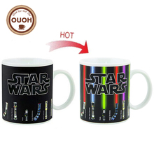 Promotion Star Wars Lightsaber Heat Reveal Mug Color Change Coffee Cup Sensitive Morphing Mugs Temperature Sensing Birthday Gift(China)