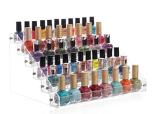 Nail Polish Rack Acrylic Makeup box 6 Tiers Nail Polish Clear Display Cosmetic Organizer Lipstick Jewelry Display Stand Holder