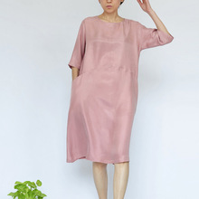 2014 Original beautiful women's Dress Female Dresses elegant Silk dress 17390-35(China)