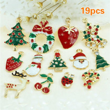 19PCS/LOT Mixed Christmas Hanging Ornaments Set DIY Jewellery Pendants Xmas Christmas Tree Decoration Festival Holiday Decor