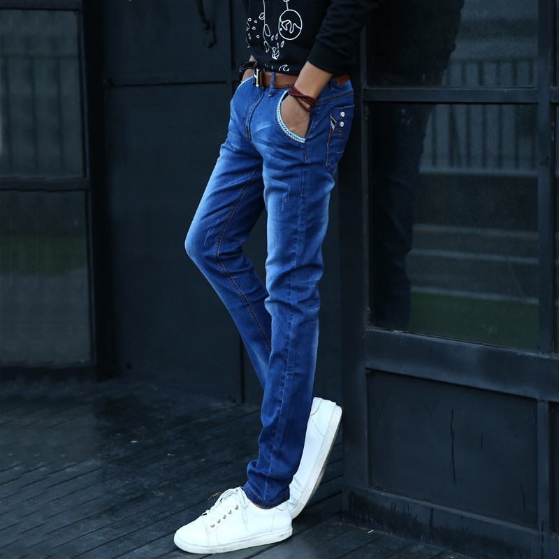 2017 New Arrival Fashion Black Color Slim Straight Leisure &amp; Casual Brand Jeans Men,Hot Sale Denim Cotton Men Jeans,NG2036Одежда и ак�е��уары<br><br><br>Aliexpress