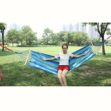 200 x 80cm Canvas Fabric Double Outdoor Hammocks Spreader Bar Hammock Garden Camping Swing Hanging Bed Hangmat Garden Swing