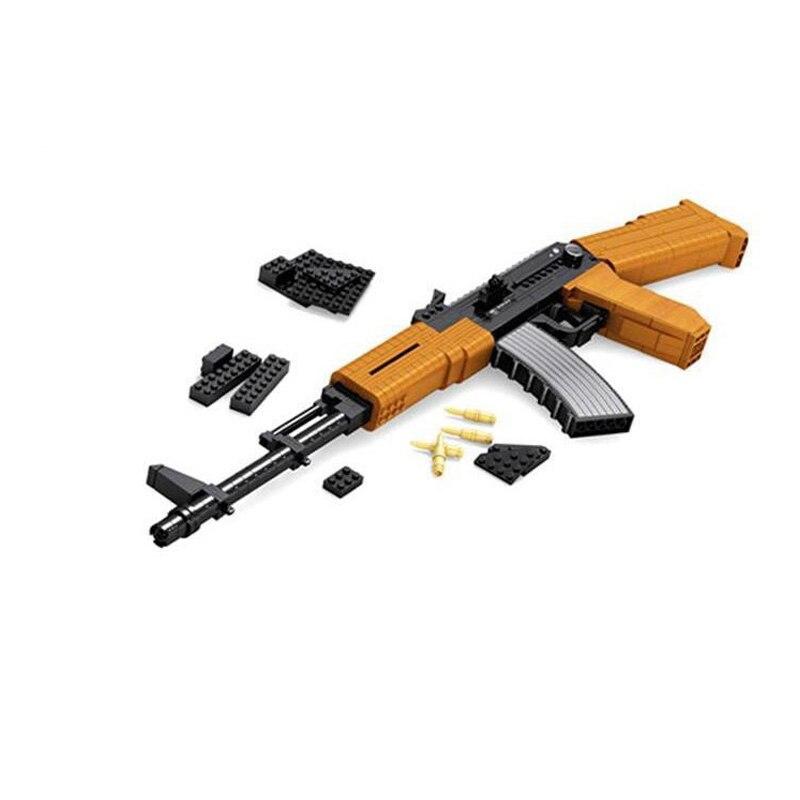 AUSINI 617pcs Legoe-style Building Blocks Assembled Toy Super Armament Assault Rifle AK47 Compatible Legoe<br><br>Aliexpress