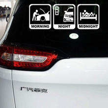 Reflective Car Tail Sticker and Decal Funny Car Accessories for Bmw Alfa Romeo Seat Volkswagen Tiguan Polo Golf Skoda Superb 2(China)