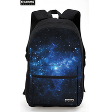 New Brand Women's 3D Galaxy Star Space Printing Backpack Casual Canvas Back Pack for Teenager Girls Boys OutdoorTravel Laptop(China)