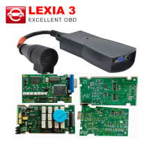 A+ quality Lexia3 Full Chip Lexia 3 V48 Diagbox V7.83 PP2000 V25 Lexia Firmware 921815C For Citroen for Peugeot diagnostic tool(China)