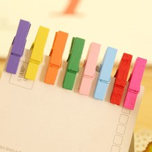 Paper Photo Mini Color Clothes 100 pcs Wooden Craft Pegs Hanging Spring Clips Wedding Beautiful Design 25mm Message Cards