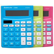 C-838EC Calculator Solar Energy Calculator Office Supplies Dual Power Supply Calculator Colorful Office Mini Hesap Makinesi 1PCS