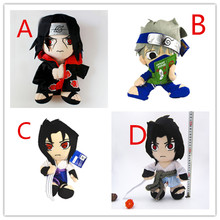 4 Style Japan Anime NARUTO Uchiha Sasuke Hatake Kakashi Uchiha Itachi 30cm Plush Soft Stuffed Kawaii Pendant Bag Xmas Gift Toy(China)