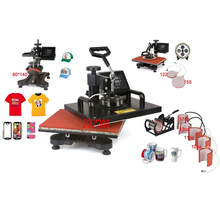 New Design 9 In 1 Combo Heat Press Machine,110V-240V Heat Transfer/Sublimation Machine,sublimation printer for Mug/Cap/TShirt Et(China)