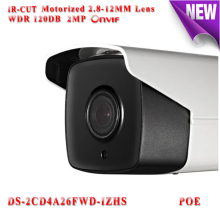HIkvision DS-2CD4A26FWD-IZHS CCTV Camera Motorized zoom 2MP WDR 120DB IP Camera POE Camera TF Card Slot Heater outdoor