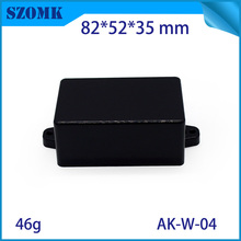 White and black color little box small plastic terminal box connection enclosure case 82*52*35mmabs material plastic junction