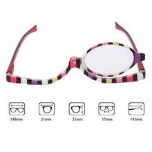 Magnifying Glasses Makeup Cosmetic Reading Glass Folding Eyeglasses +1.0~+4.0