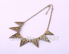 New Arrival Costume Jewelry Factory Direct Triangle Vintage Necklaces(China)