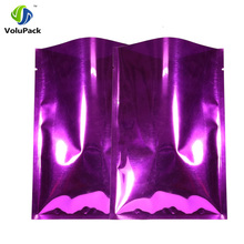 7x10cm(2.75x4in) 100pcs Tear Notch Glossy Purple Heat Sealable Open Top Package Bags Aluminum Foil Mylar Bag Food Storage(China)