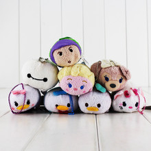 26styles 9cm Mini Tsum Tusm Screen Cleaner Inside Out Plush Toys Doll Minnie Mickey Keychain Pendant Birthday Gift For Children