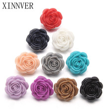 10pcs/lot Random Delivery 18mm Rose Flower Resin Snap Buttons For Leather Bracelets Watches Women One Direction