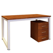 Modern Metal Computer PC Home Office Desk / Study Table Bedroom Colour:Brown(China)