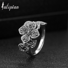 Iutopian Brand 2016 Vintage Retro Elegant Rose Flower Ring Anels For Women Anti Allergy Not Fade  #AA3082