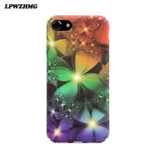 LPWZHMG Newest 3D Solid Flowers Pattern IMD Phone Back Cover Case For iPhone 7 For iPhone 6 6S 7 Plus Mobile Phone Bags & Cases(China)