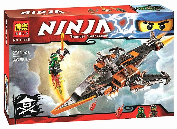 NinjaPhantom Ninja Sky Shark Flintlocke Model building blocks action   set bricks baby boy kit toys<br><br>Aliexpress