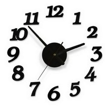 1 PC Acrylic Modern DIY Large 3D Clock Wall Sticker Big Clock Home Decoration Wall Stickers VB507 P50