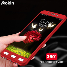 Buy Aokin Coque Xiaomi Redmi 4 4X 4A 3S Luxury Hard 360 Full Cover Protection Case Redmi Note 4X 4 3 2 Case + Tempered Glass for $2.75 in AliExpress store