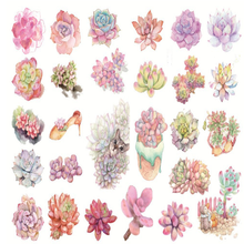 5 Sheets/set  New A5 cute succulent plants paper sticker DIY diary decoration sticker for planner album scrapbooking