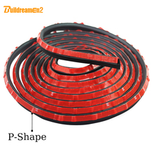 "4M 160"" P Type Car Airtight Weatherstrip Air Sealed Hollow Truck SUV Door Rubber Seal Strip Noise Control Waterproof(China)"