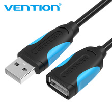 Vention USB2.0 3.0 Extension Cable Male to Female Extender Cable USB3.0 Cable Extended for laptop PC USB Extension Cable(China)