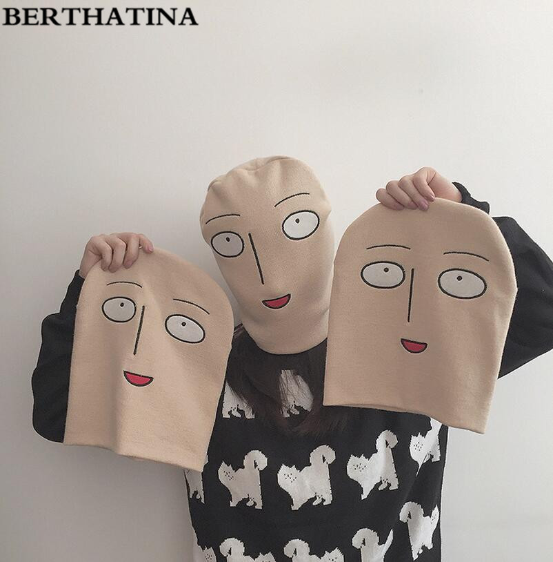 BERTHATINA Full Face Cover Outside Mask Face Shape Balaclava Knit Hat Winter Stretch Snow mask Beanie Hat Cap 2016 Fashion(China)