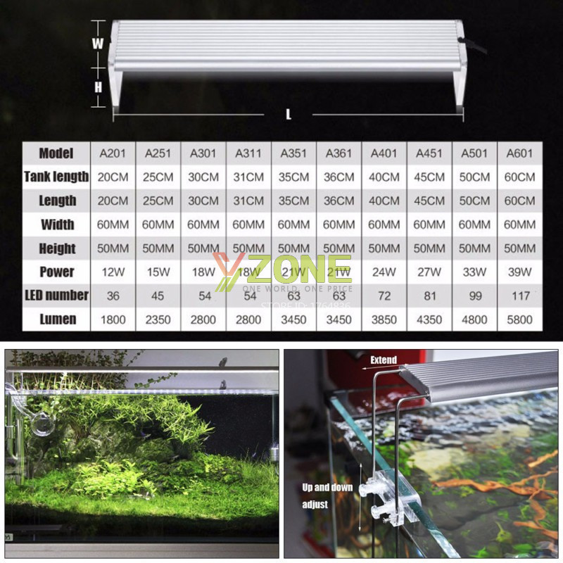 A-Series Aquarium 5730 LED Lamp 12-39W LED Fish Tank Light 100~240v Brief Aquarium Aquatic Water Plant Grow Light15
