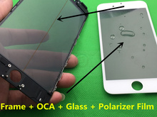 10pcs/lot New Replacement LCD Front Touch Screen Glass Outer Lens for iphone 5 5S 5C with frame bezel OCA LCD Polarizer Film AAA