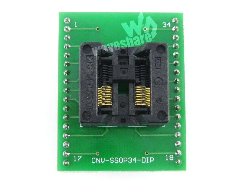 module Waveshare SSOP16 TO DIP16 TSSOP16 Enplas IC Adapter Test Burn-in Socket for SSOP16 Package 0.65mm Pitch<br>