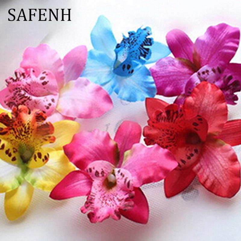 SAFENH Flower Hairgrips Wedding Accessories Corsage Wedding Orchid Flower Hair Clip Hairpins Hair Ornaments Women Hair clips