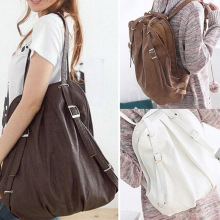 Lady Korea Style PU Leather Handbag Shoulder Bag Tote Messenger Bag 3 Colors AGD